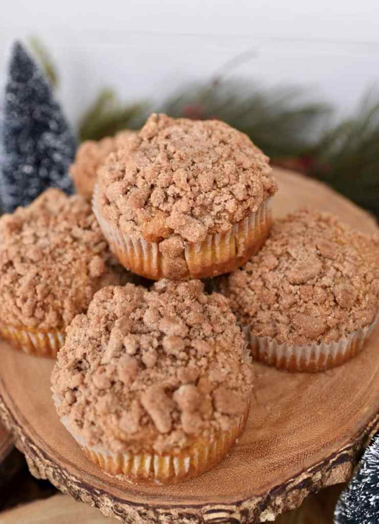 Muffins at a rustic holiday party