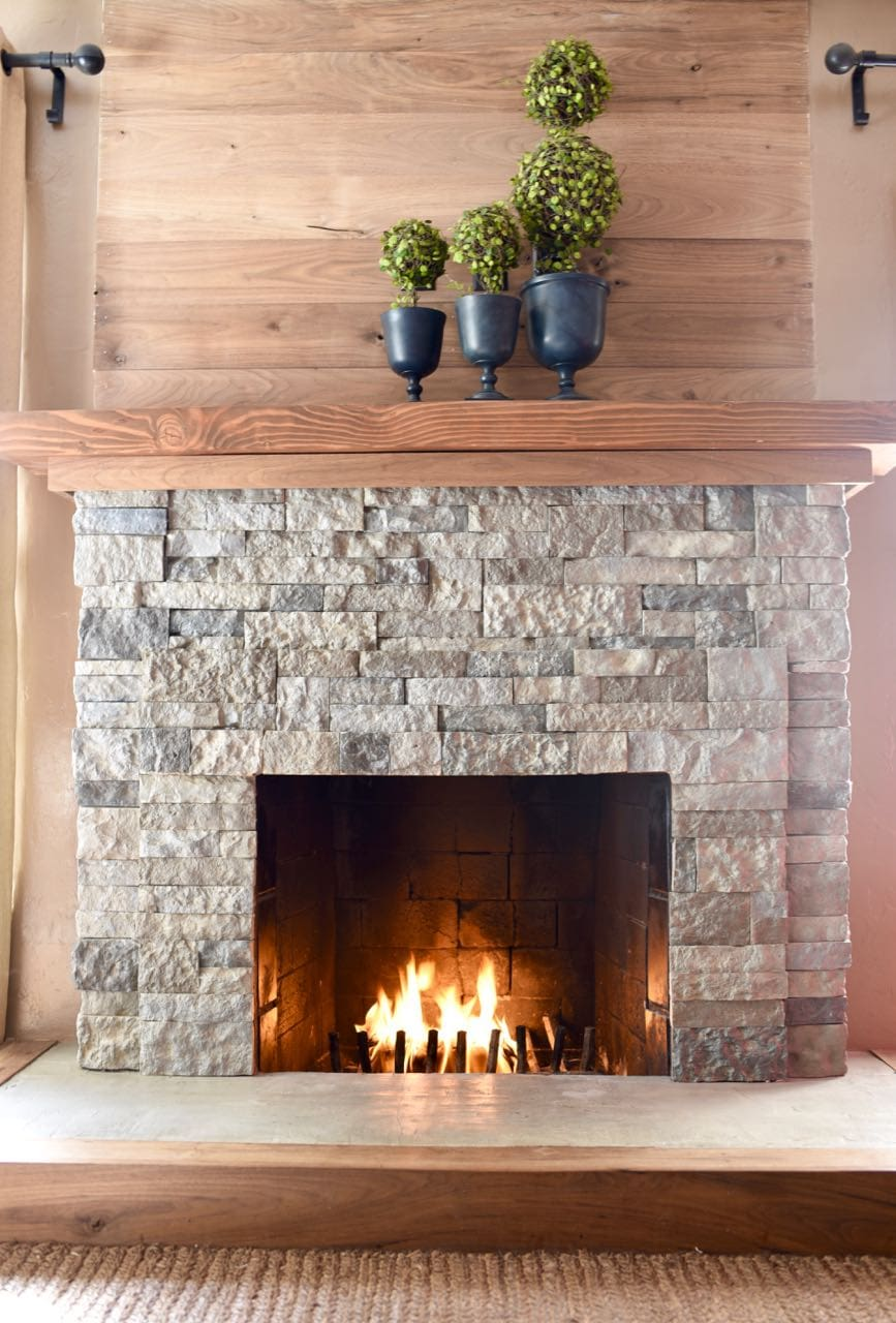 Airstone Fireplace Makeover Make Life Lovely