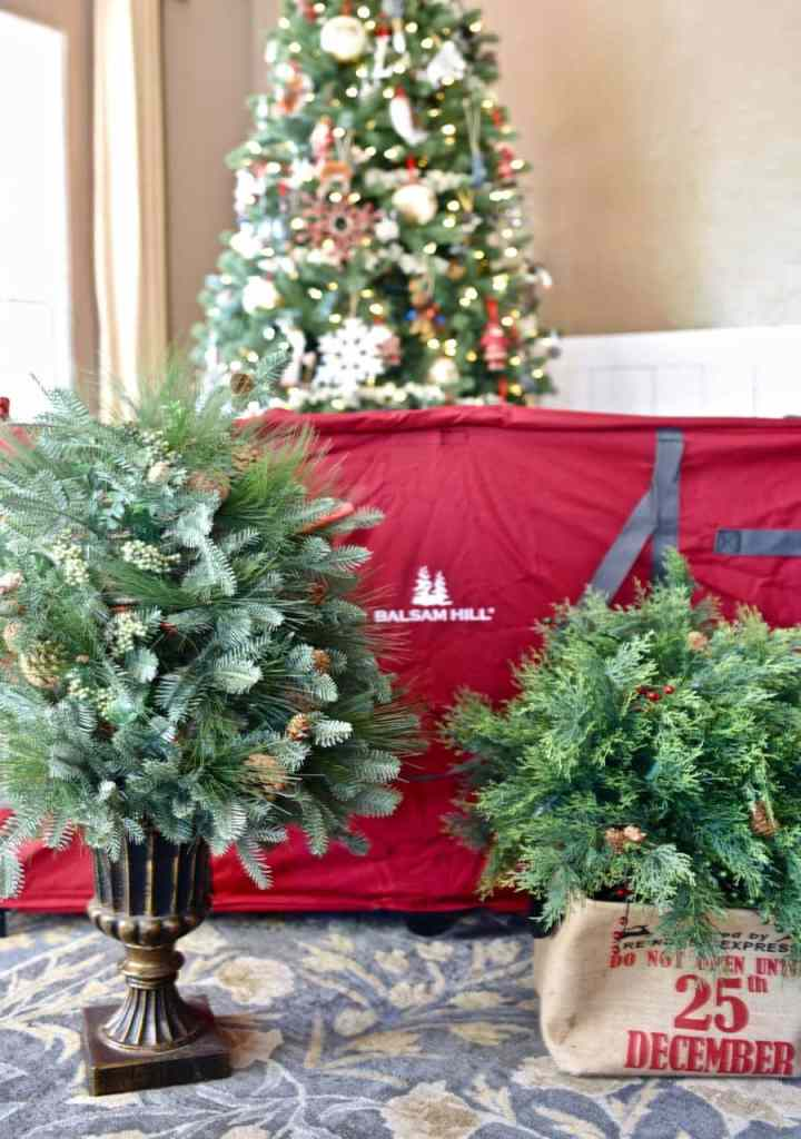Balsam Hill Christmas tree storage bag for storing Christmas decorations