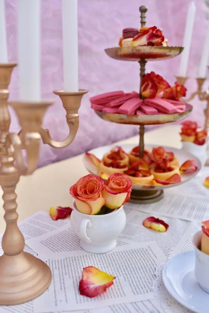 Belle princess tea party for little girls