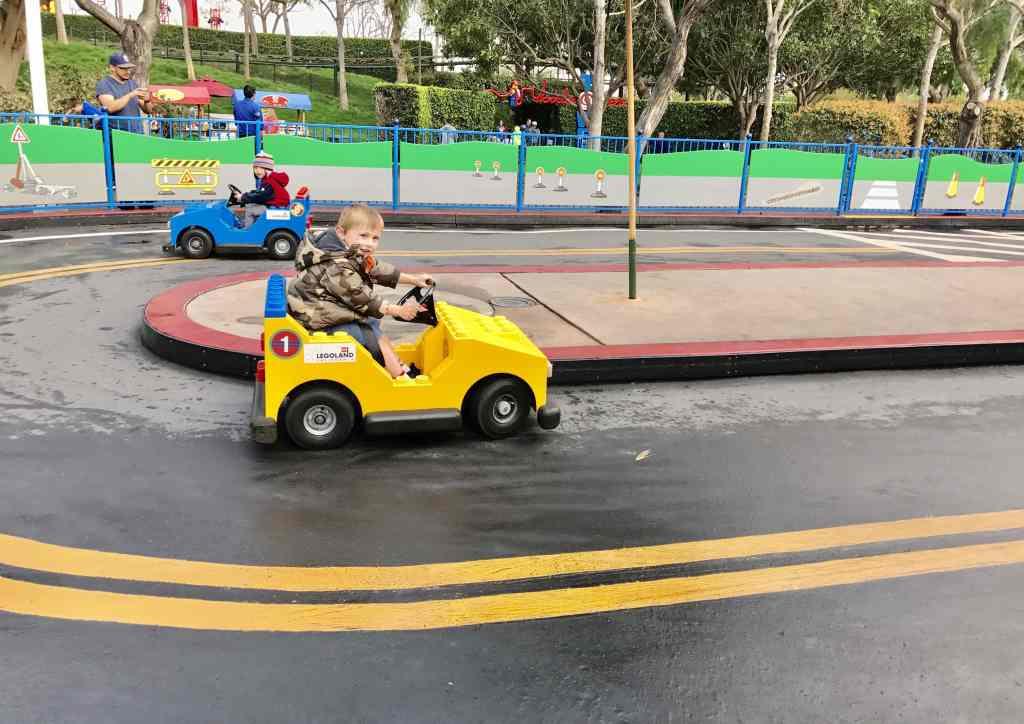 Legoland CA car driving ride
