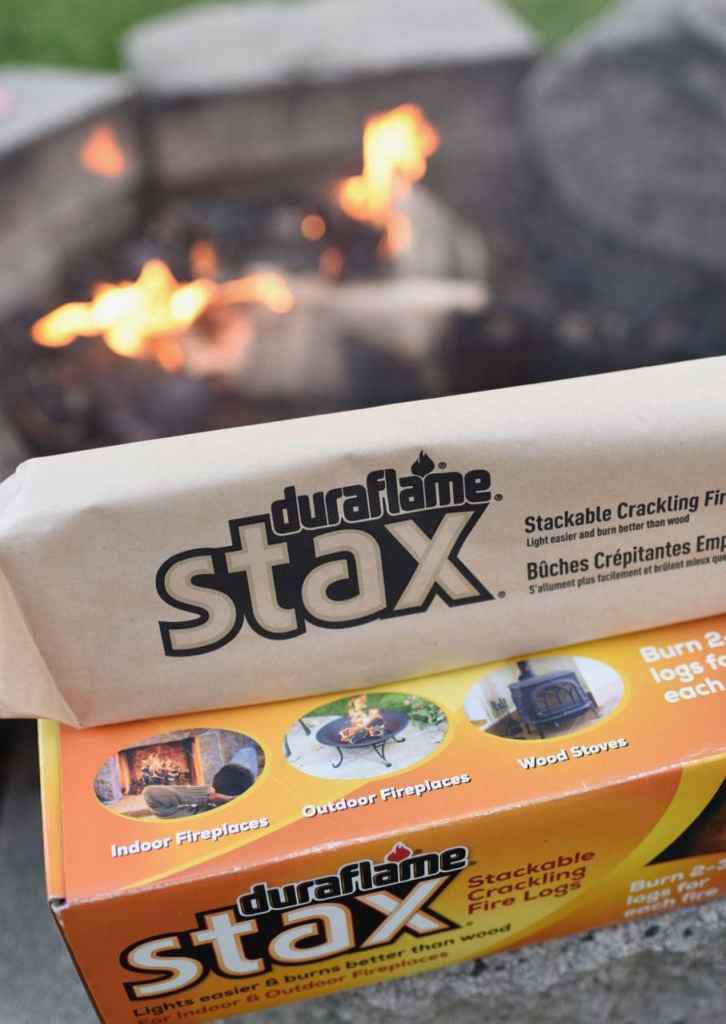 Duraflame Stax fire logs at boho party