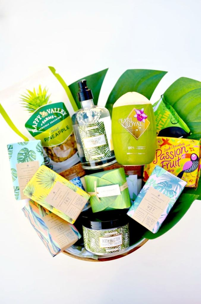 Tropical Mother's Day gift basket ideas