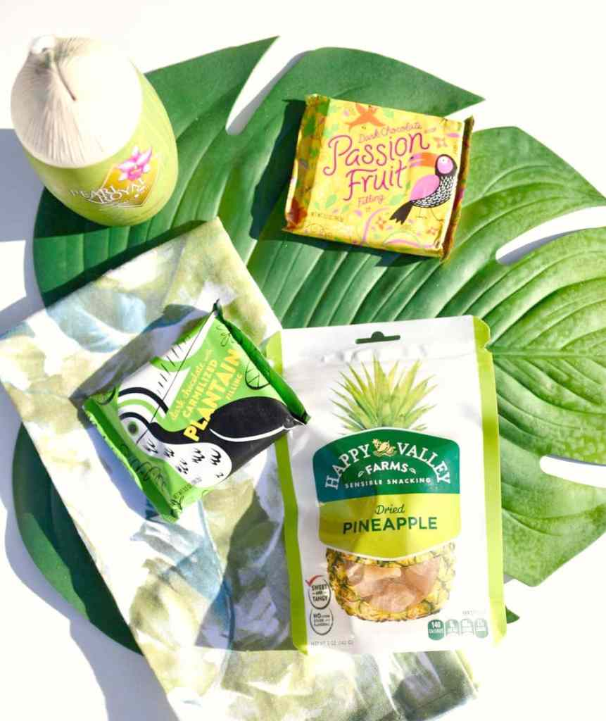 Tropical Mother's Day gift basket snacks from World Market