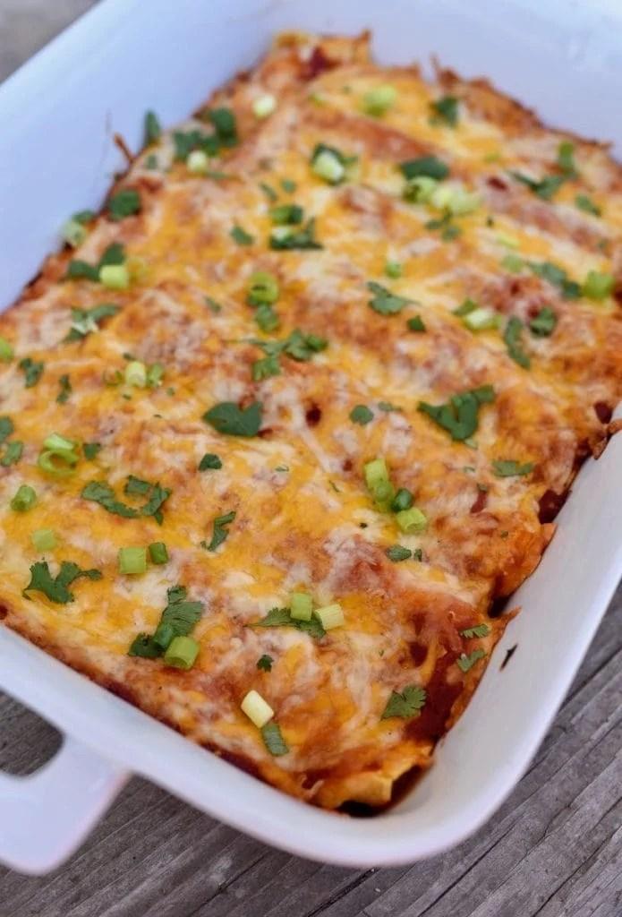 Homemade chipotle cheese enchiladas