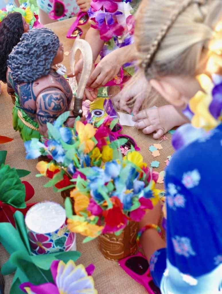 Moana party activity DIY sunglasses