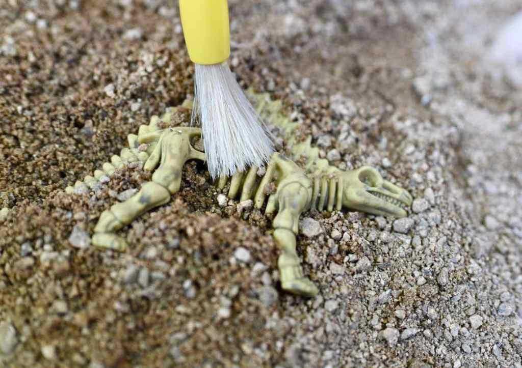 DIY dinosaur dig activity for dinosaur birthday
