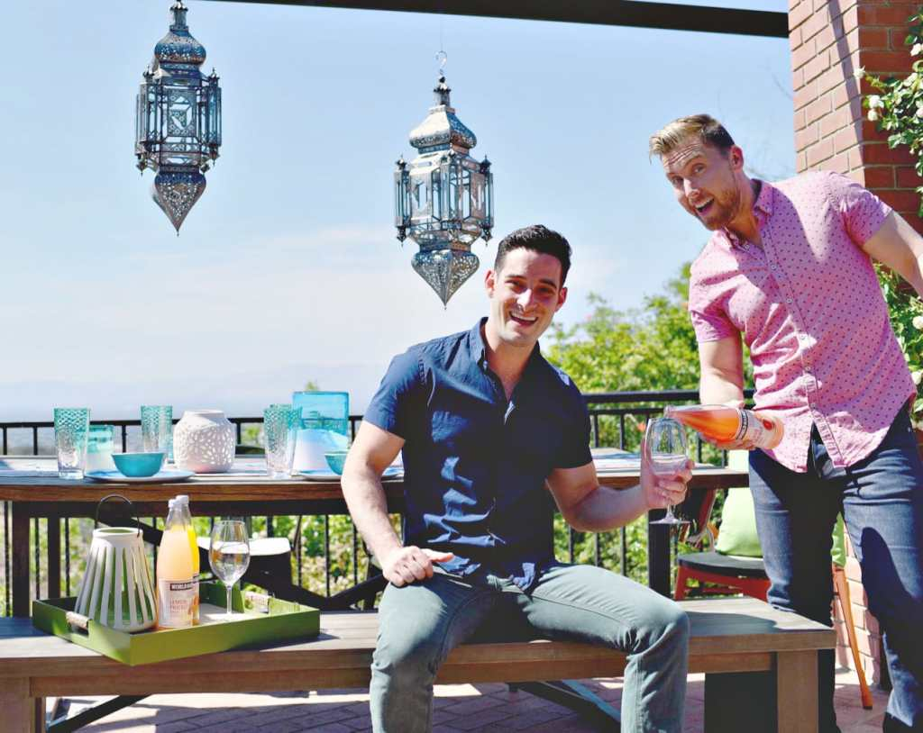 Lance Bass home backyard makeover for summer