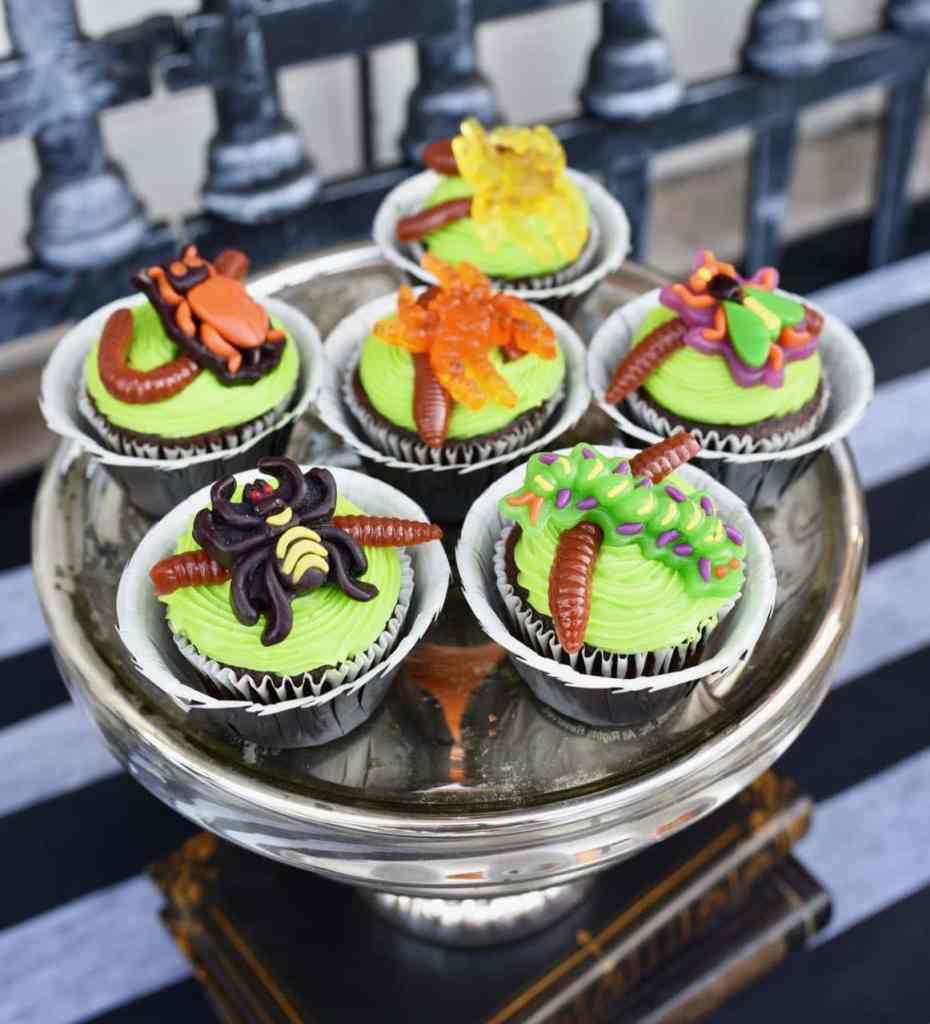 Nightmare Before Christmas cupcakes Oogie Boogie bugs