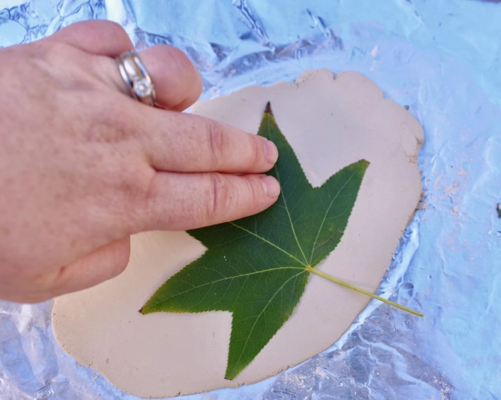 Clay leaf bowls fall craft for kids and adults
