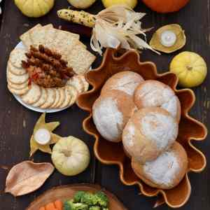 Clay Leaf Bowls Fall Craft That Also Make Pretty Candle Holders