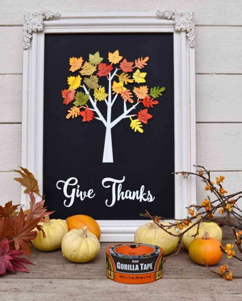 Thankful tree Thanksgiving craft for kids