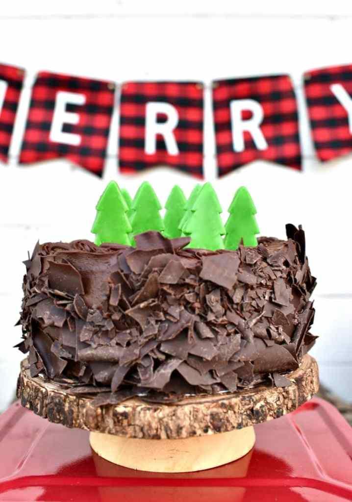 Buffalo plaid party cake for Christmas