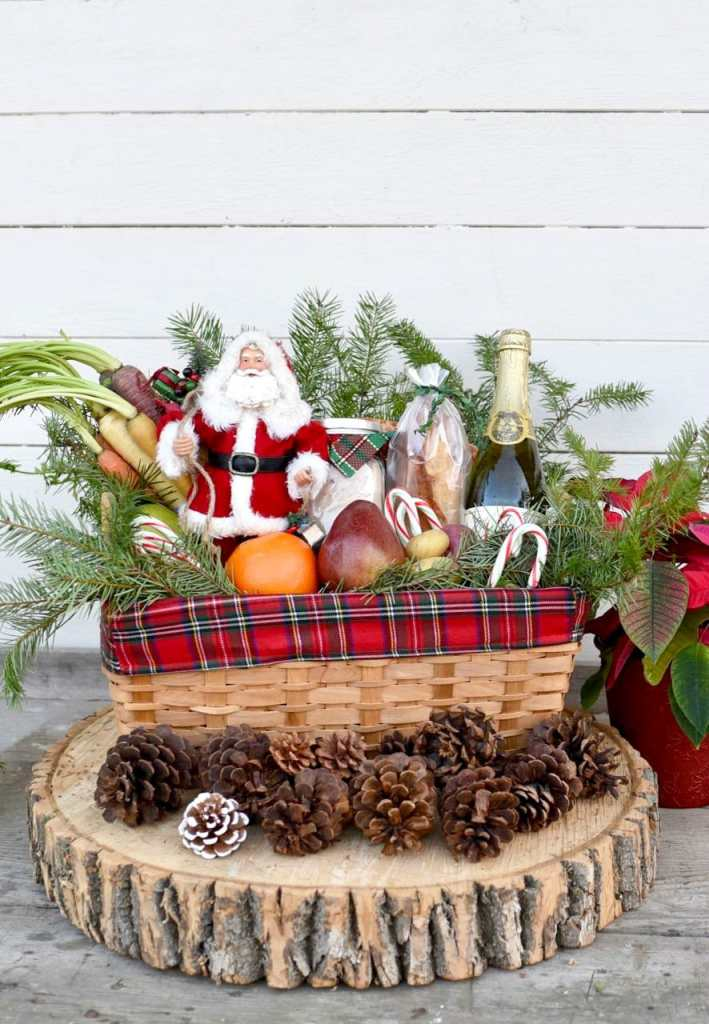 Christmas gift basket tutorial