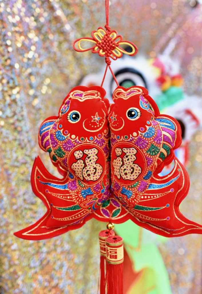 Chinese New Year party decorations for red paper lanterns