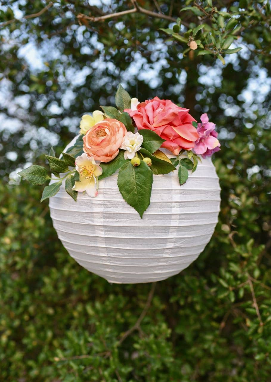 DIY Flower Paper Lanterns Tutorial - Make Life Lovely
