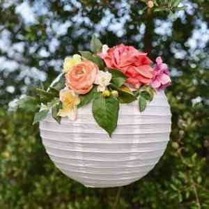 DIY Flower Paper Lanterns Tutorial