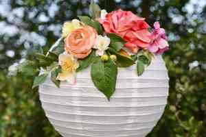 DIY Flower Paper Lanterns Tutorial