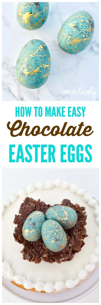 How to make chocolate Easter eggs in just a minutes with a chocolate egg mold. Chocolate Easter eggs are very simple to make and look amazing on an Easter table or for an Easter dessert!