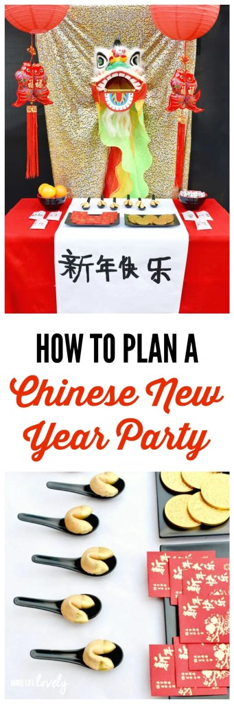How to plan a Chinese New Year party. Lots of great ideas for Chinese New Year food, decorations, and more!