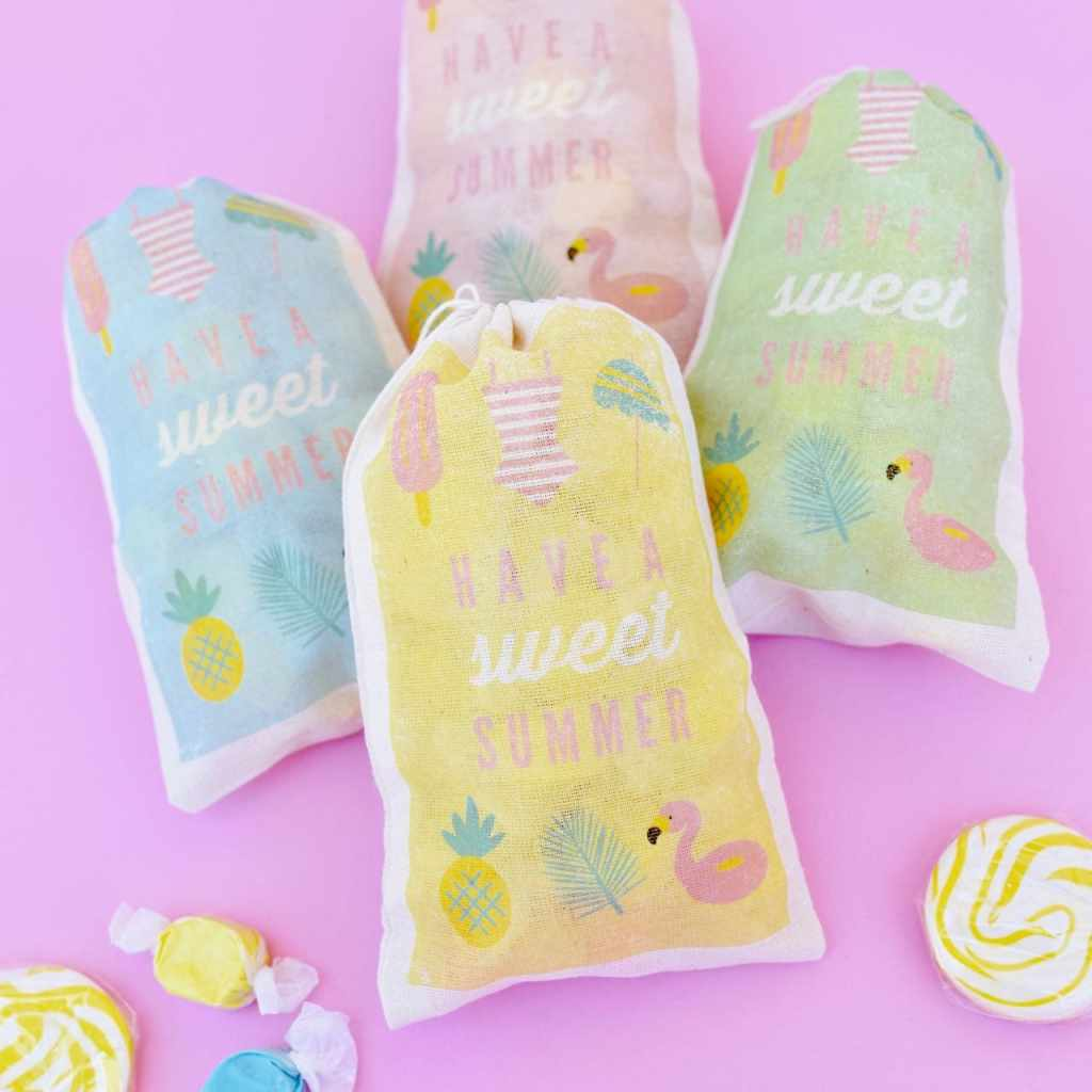 DIY summer party favor bags