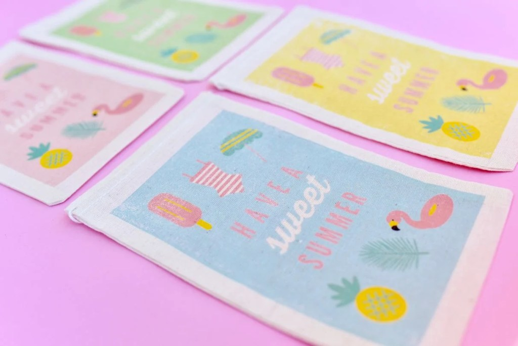How use inkjet transfer paper sheets to make DIY party favor bags