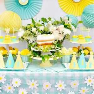 Cheery Mint and Yellow Birthday Party with Cricut