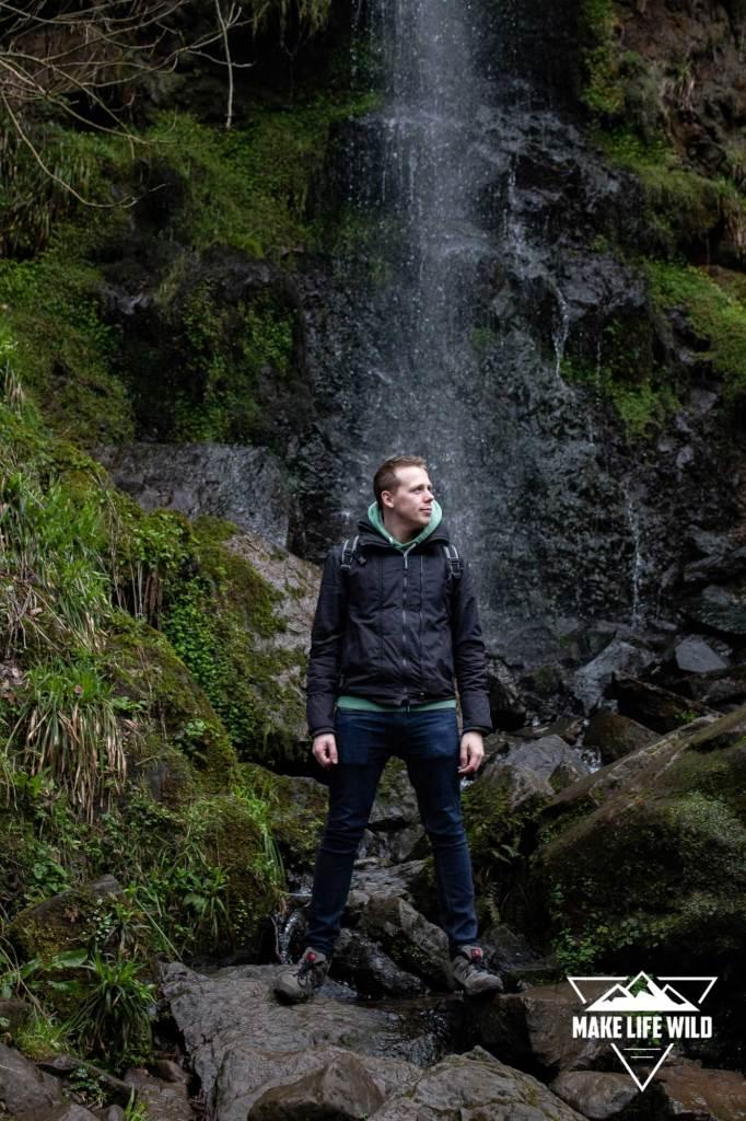 Alan at Mallyan Spout in Goathland