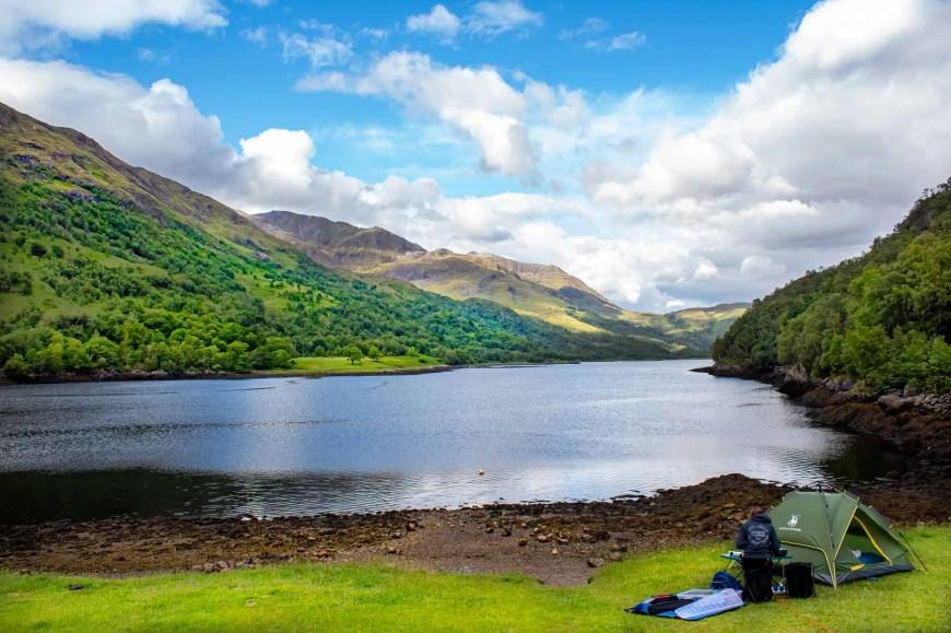Camping at Loch Leven in Glencoe Scotland Road Trip