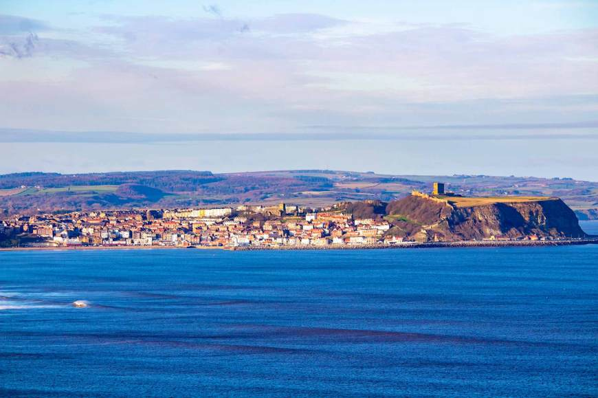 Scarborough South Bay and Castle from Cayton Bay