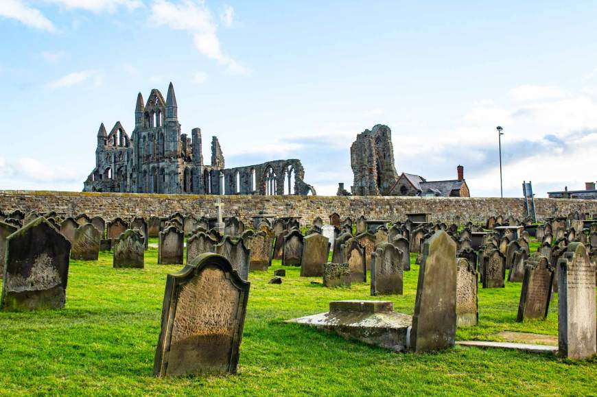 Whitby Abbey from the Church of St Mary