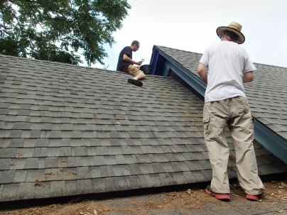 Day 5: David and Peter on the roof.