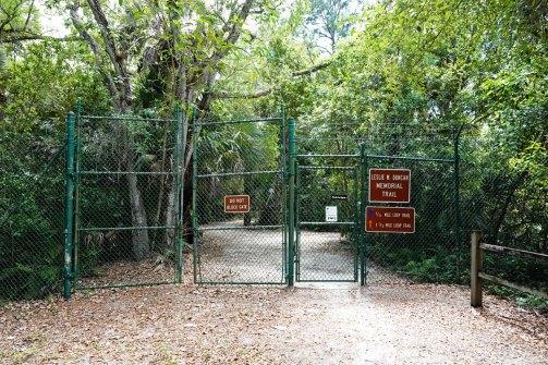 Entrance to the refuge.