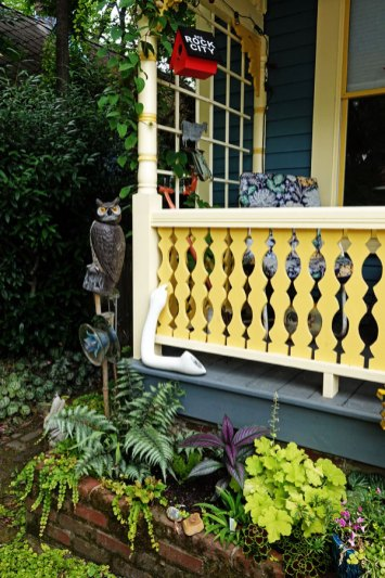 Ro's porch. House painted by Greg and Paul.