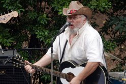 Friend, Slim performs at the Cabbagetown Reunion.