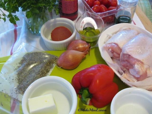 ©MakeMIneLemon - Braised Vinegar Chicken Mise En Place
