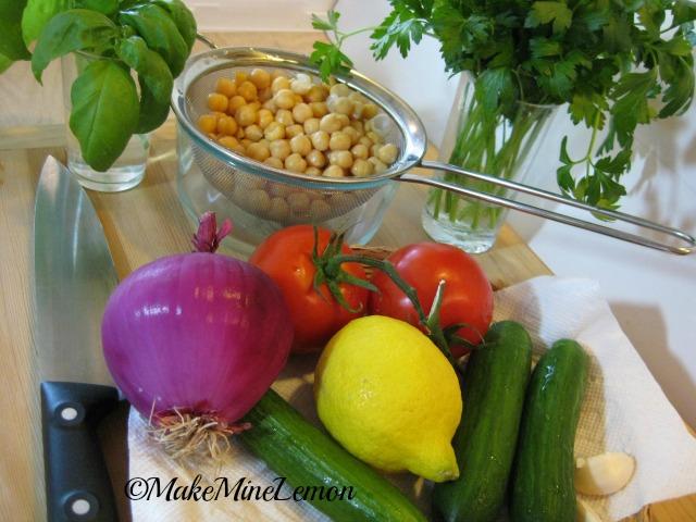 Greek Salad Mise en Place