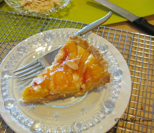 A Slice Of Peaches and Cream Tart