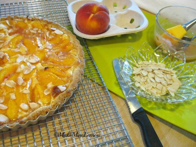 Glaze Your Peaches and Cream Tart