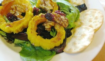 Delicata Squash and Salad