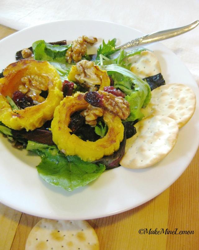 Delicata Squash and Salad
