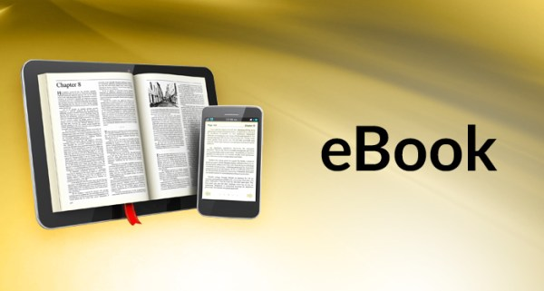 two ebook on a gold background