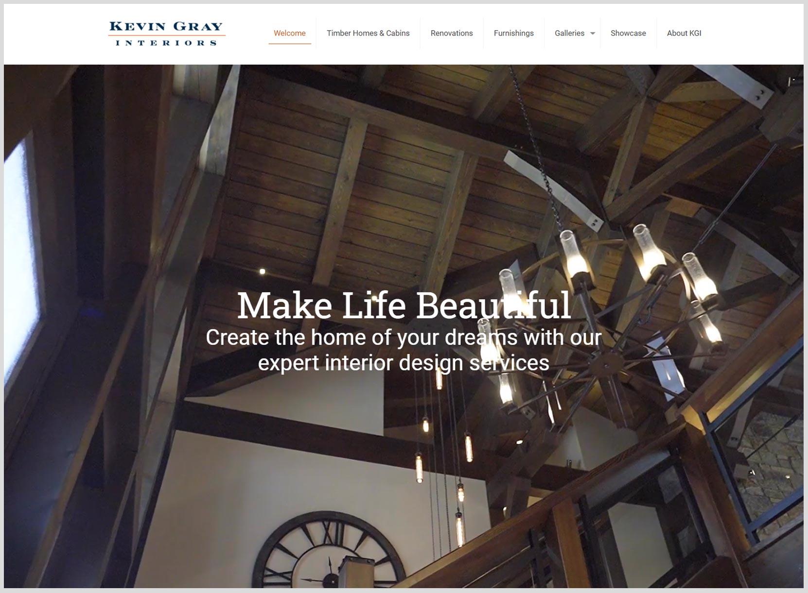 Kevin Gray Interiors Website