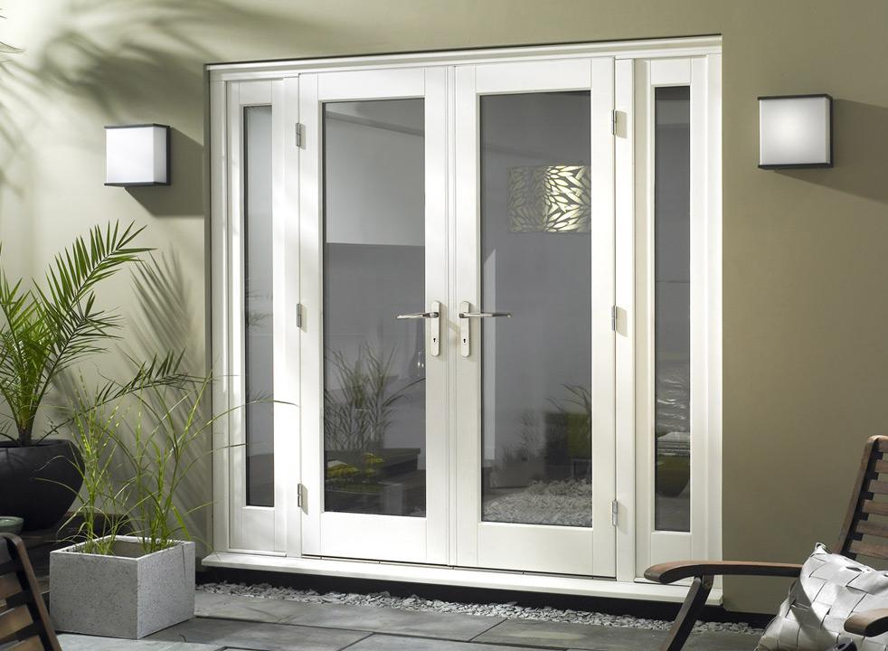 install wooden blinds on patio doors