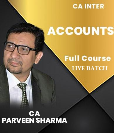 Video Lectures CA Inter Accounting Live At Home By CA Parveen Sharma