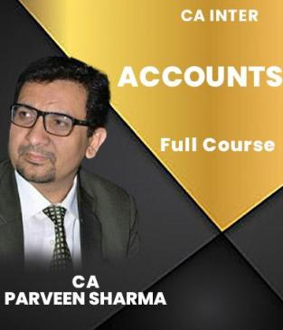 Video Lectures CA Inter Accounting Regular Batch By CA Parveen Sharma