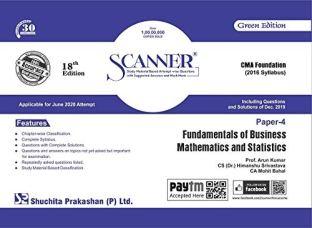 Scanner CMA Foundation Fundamentals Business Mathematics Statistics