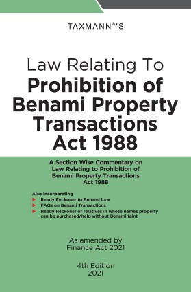 Taxmann Law Relating to Prohibition of Benami Property Transactions