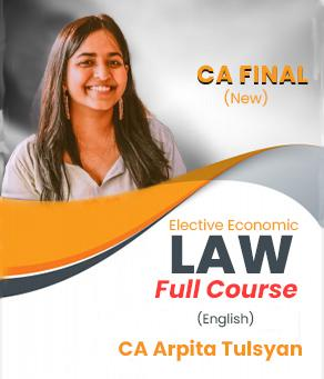 Video Lecture CA Final Elective Economic Laws By CA Arpita S. Tulsyan