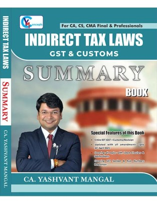 CA Final Indirect Tax Laws Summary Book Yashvant Mangal